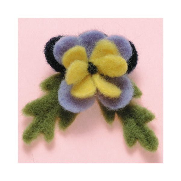 Clover Needle Felting Applique Mold - Pansy