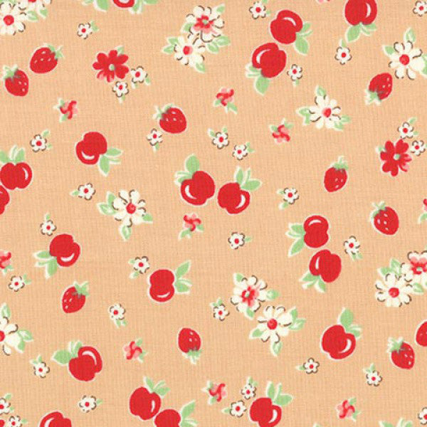 Lecien Retro 30s 2016 - Peach Strawberries & Apples