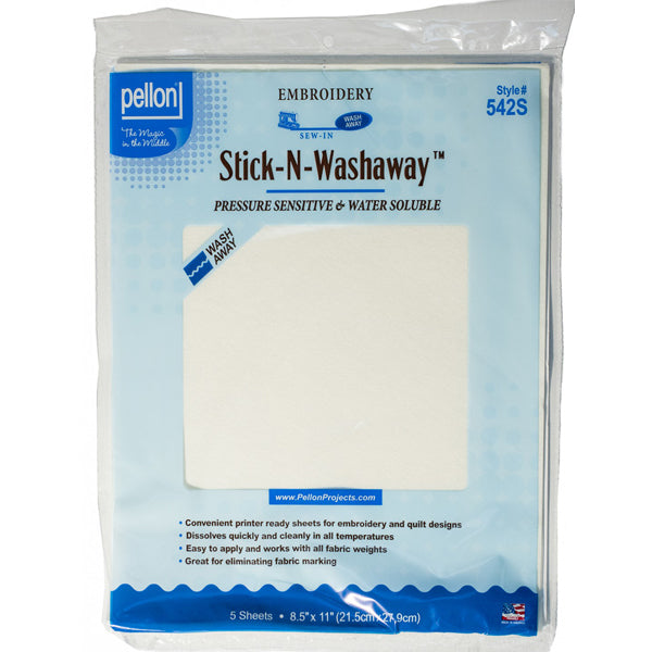 Pellon - 542S - Stick-N-Washaway Sheets