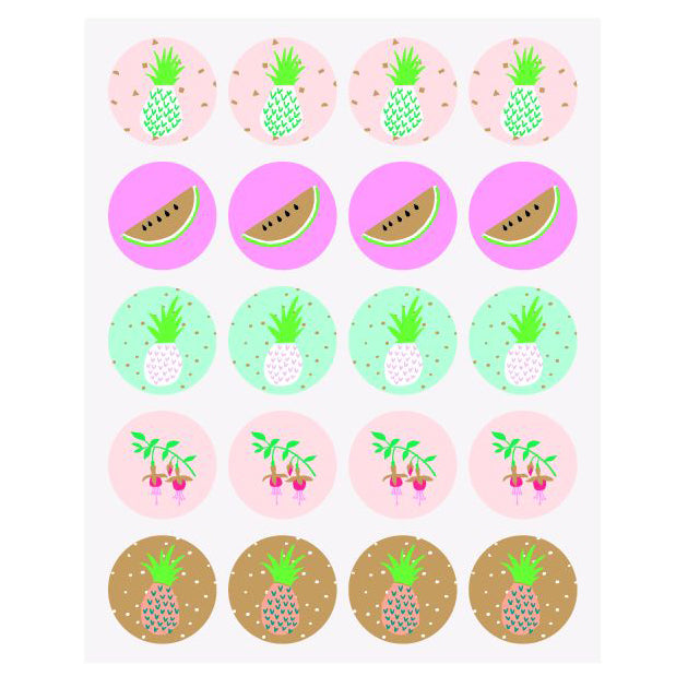 Tropical Spring Stickers - Pineapple