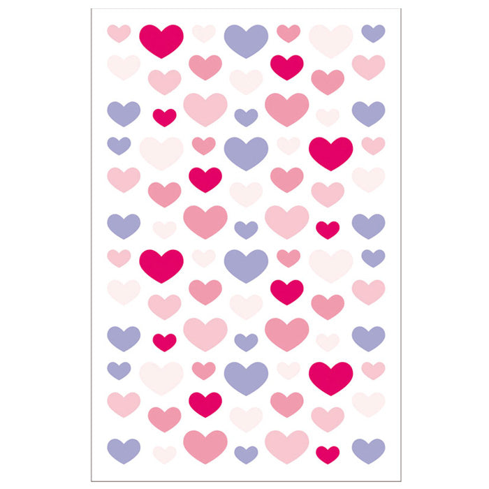 Violet & Red Felt Heart Stickers