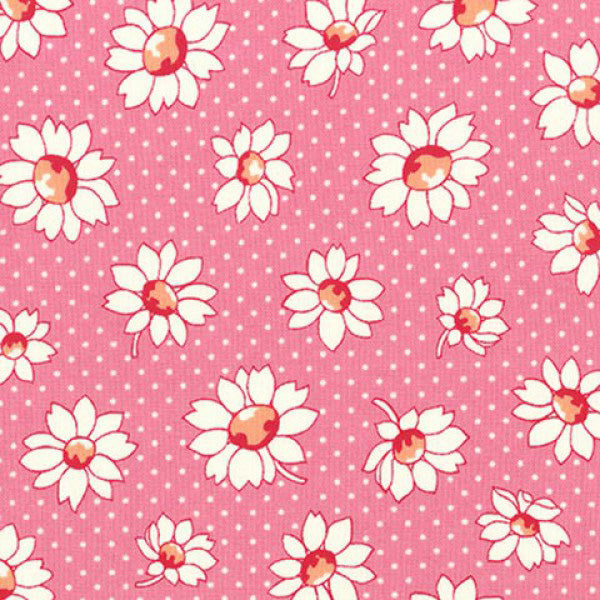 Lecien Retro 30s 2016 - Pink Dotty Flower