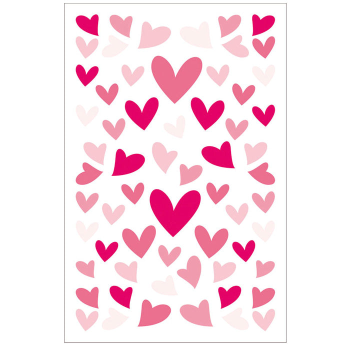 Crazy Felt Heart Stickers
