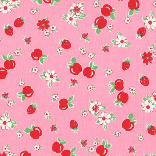 Lecien Retro 30s 2016 - Pink Strawberries & Apples