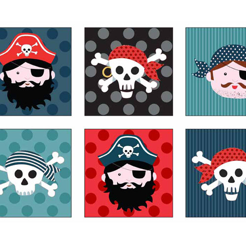 Pirates - Makower - Pirate Labels