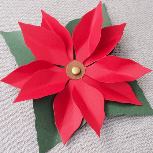 Paper Poinsettia Flowers