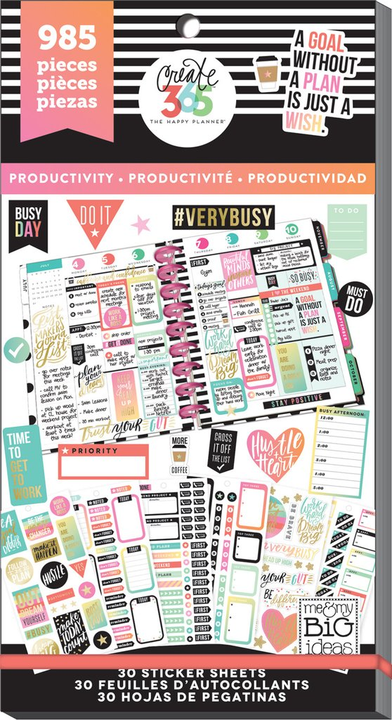 MAMBI Create 365 - Bumper Value Pack Stickers - Productivity