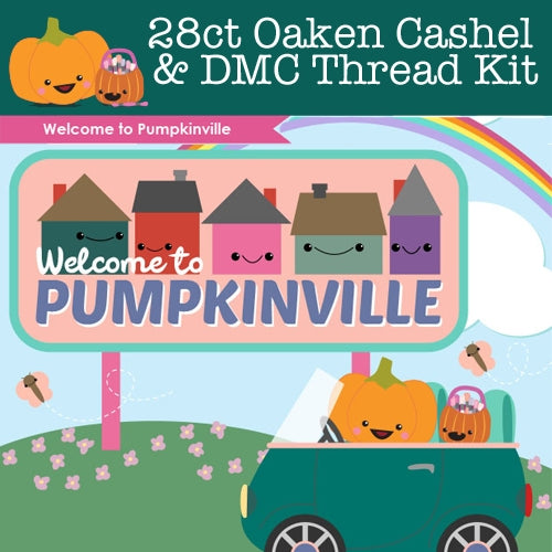 KIT - Pumpkinville - 28ct FQ Cashel & Threads