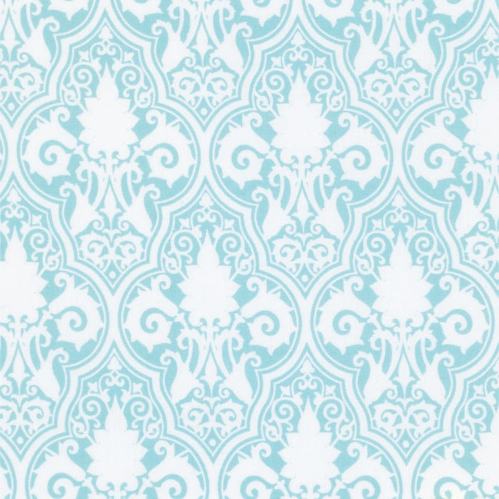 Sunshine Rose - Blue Sunshine Damask