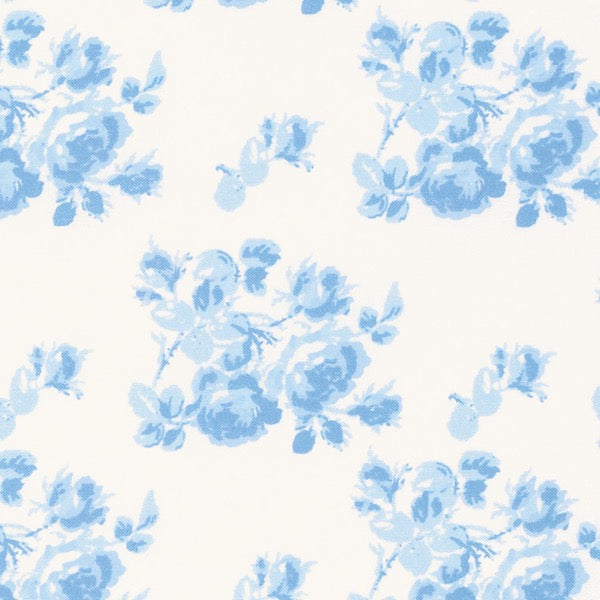 Sadie's Dance Card - Blue Tonal Rose