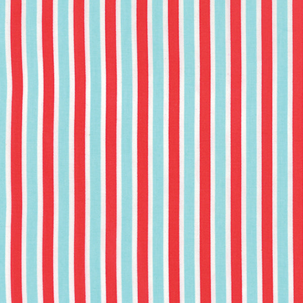Bonnie & Camille Daysail - Red on Aqua Stripe