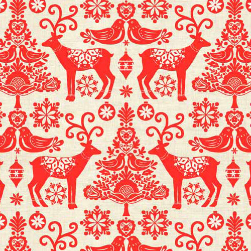 Scandi - Makower - Reindeer Red
