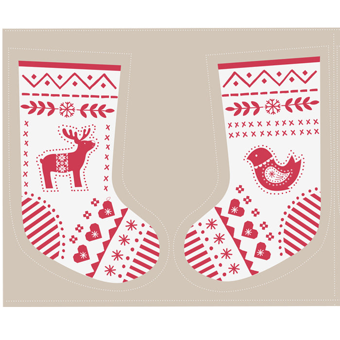 When I Met Santa's Reindeer - Stocking Panel