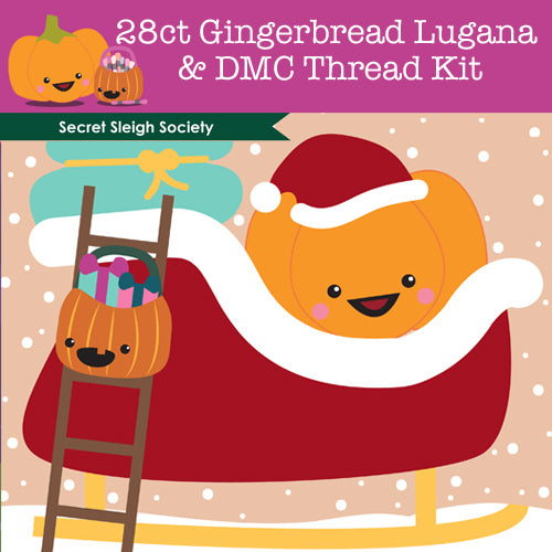 KIT - Secret Sleigh Society - 28ct Lugana & Threads