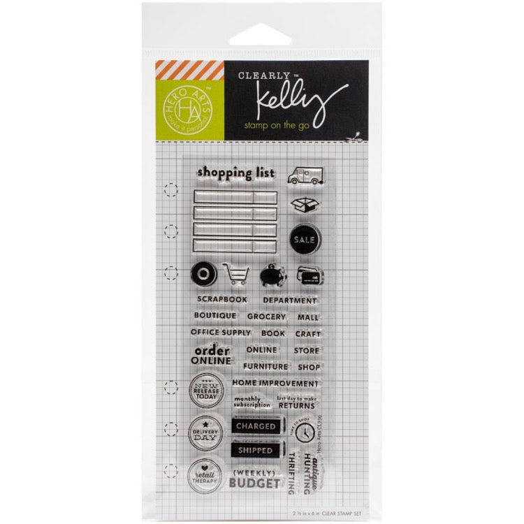 Hero Arts Kelly Purkey Clear Acrylic Stamp Set - Shopping