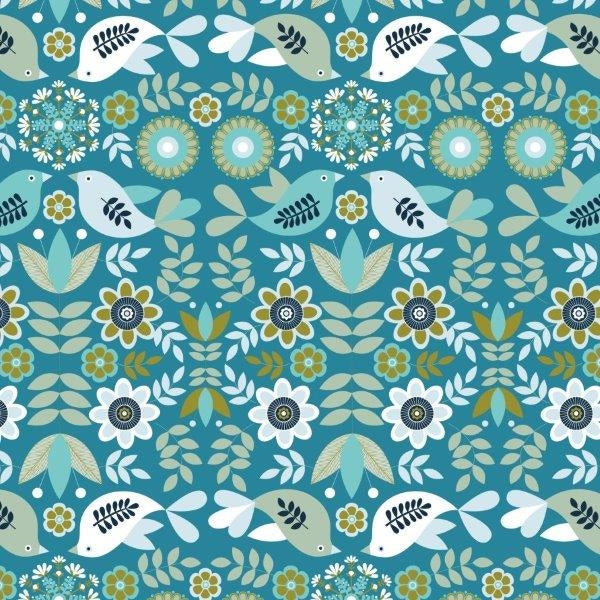 Snow Forest - Dashwood Studio - Birds Blue
