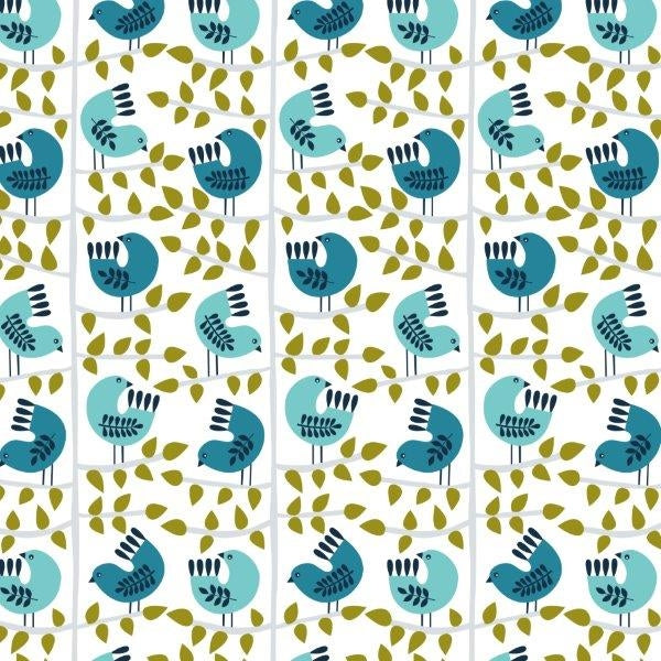 Snow Forest - Dashwood Studio - Birds White