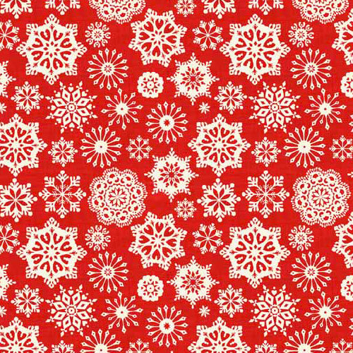 Scandi - Makower - Snowflakes Red - BOLT END