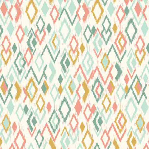 Sophia - Makower - Ikat Cream