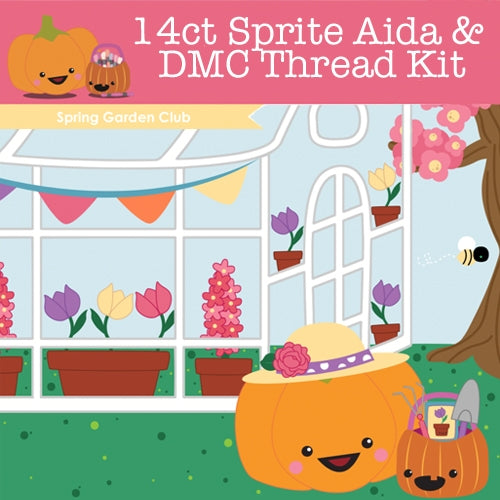 KIT - Spring Garden - 14ct Aida & Threads