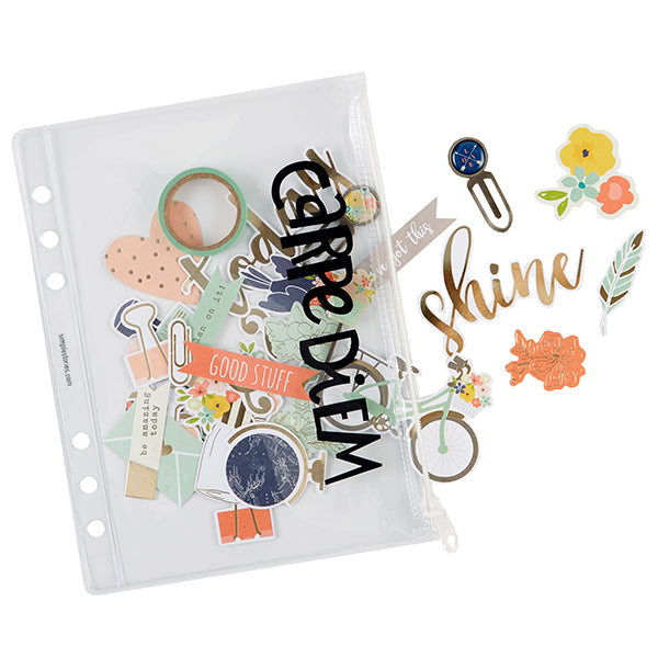 Carpe Diem Planner Essentials - A5 Plastic Zippered Storage Pouch