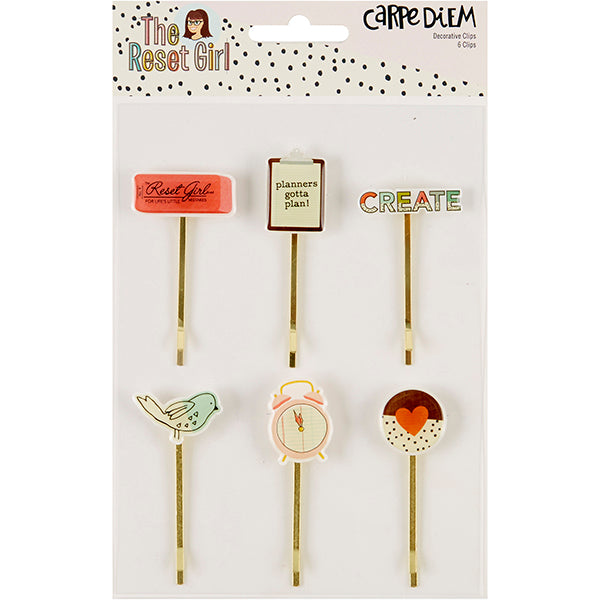 Carpe Diem Reset Girl - Decorative Clips