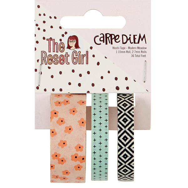 Carpe Diem Reset Girl - Washi Tape - Modern Meadow