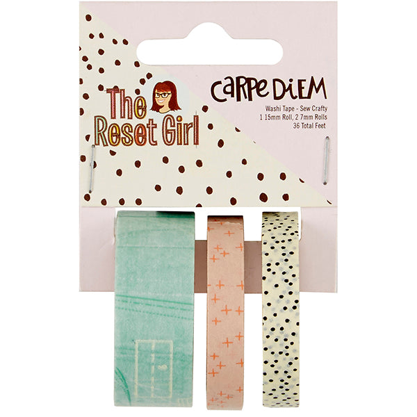 Carpe Diem Reset Girl - Washi Tape - Sew Crafty
