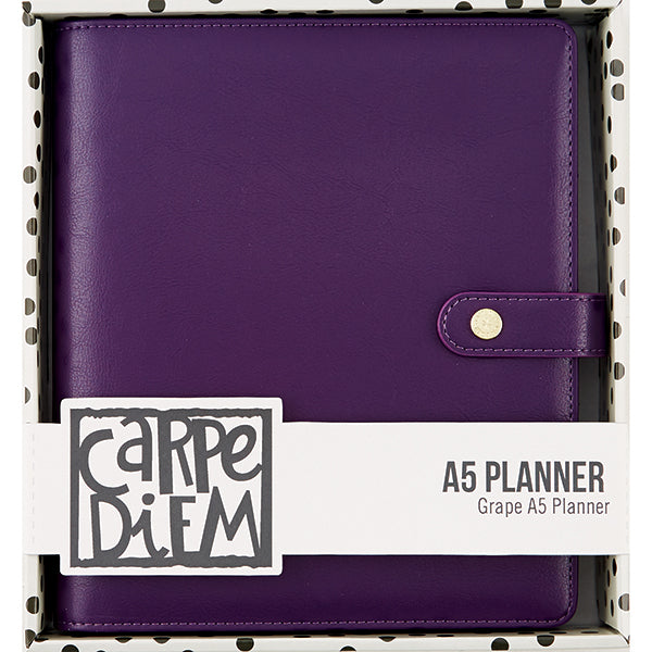 Carpe Diem A5 Planner - Grape