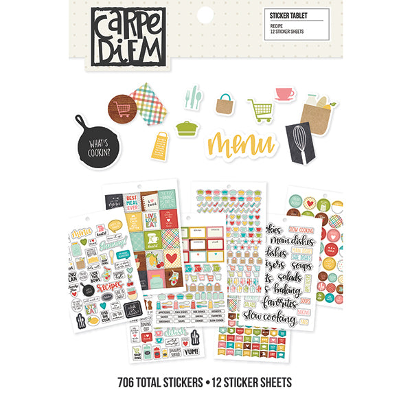 Carpe Diem - A5 Recipe Sticker Tablet
