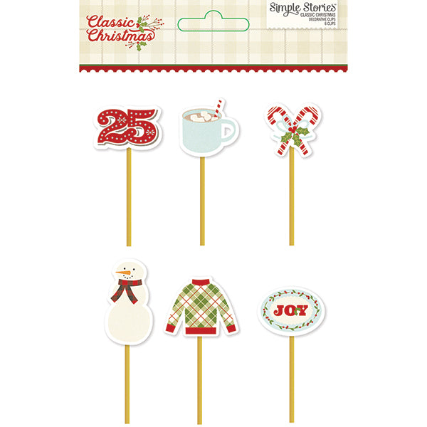 Simple Stories Classic Christmas - Decorative Clips