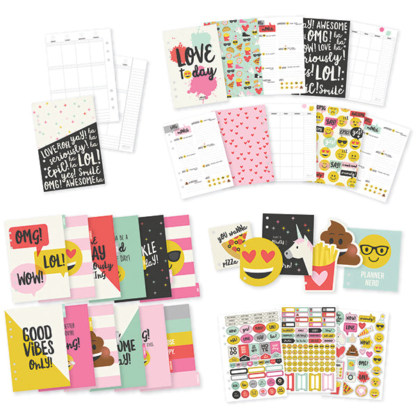Carpe Diem - A5 Emoji Love 12 Month Planner Insert Set