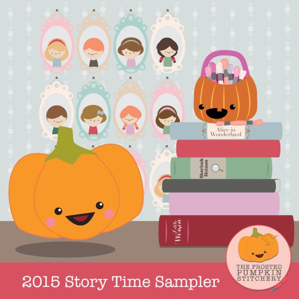 Frosted Pumpkin Stitchery 2015 Story Time Sampler Thread Pack
