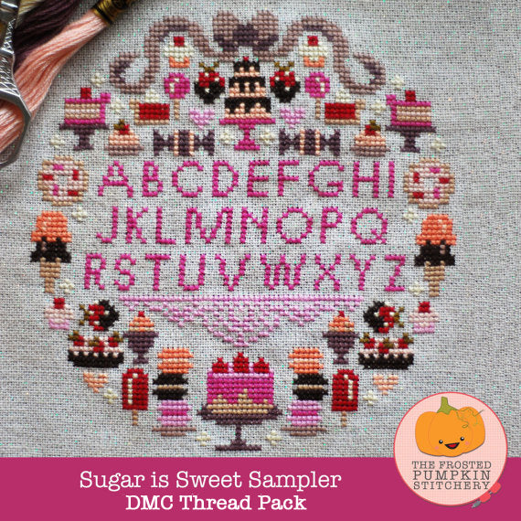 Frosted Pumpkin Stitchery - Sugar is Sweet DMC Thread Pack