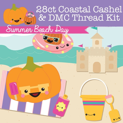 KIT - Summer Beach Day - 28ct Cashel & Threads