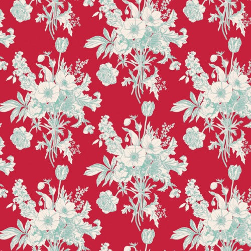 Tilda Cottage - Botanical Red