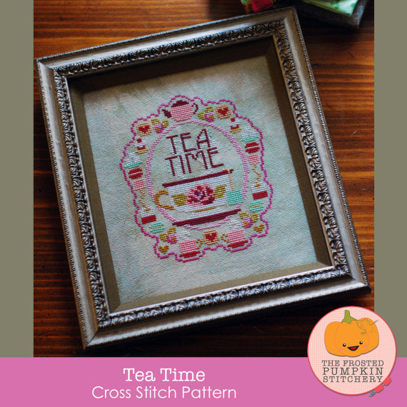 Frosted Pumpkin Stitchery - Tea Time Paper Pattern