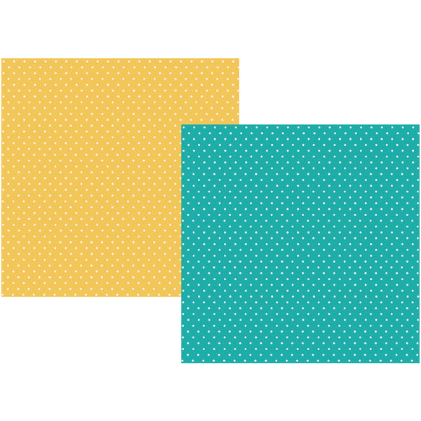 Carpe Diem Paper -  Teal Dot/Yellow Dot