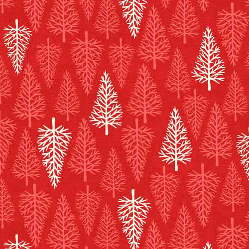 Scandi - Makower - Trees Red