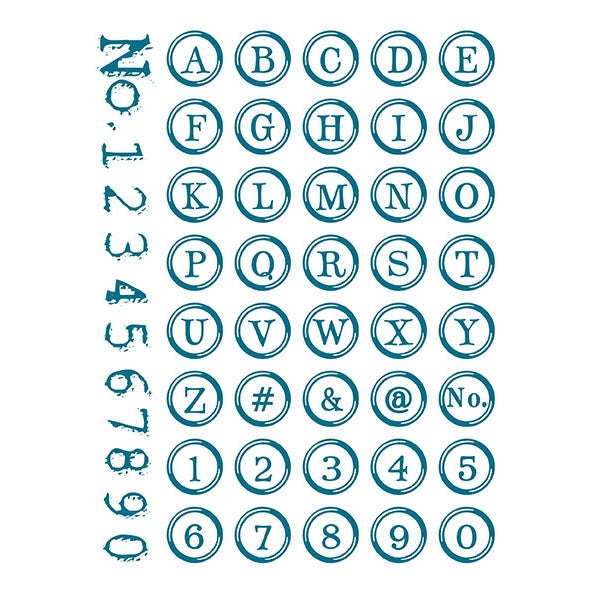 Typewriter Key Alphabet Acrylic Stamp Set