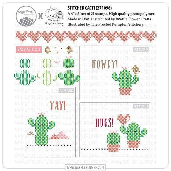 Waffle Flower Clear Acrylic Stamp Set - Cactus