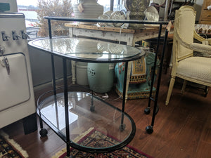 Nesting Glass Bar Cart
