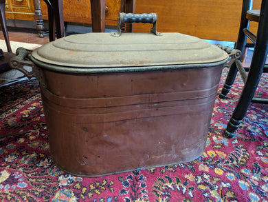 Copper Tub with Lid