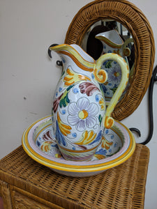Paisley Wash Bowl and Pitcher