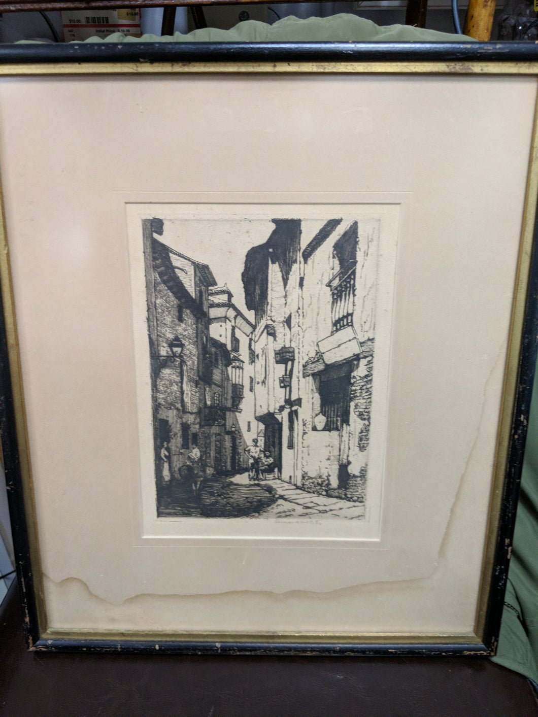 Framed Buildings Print