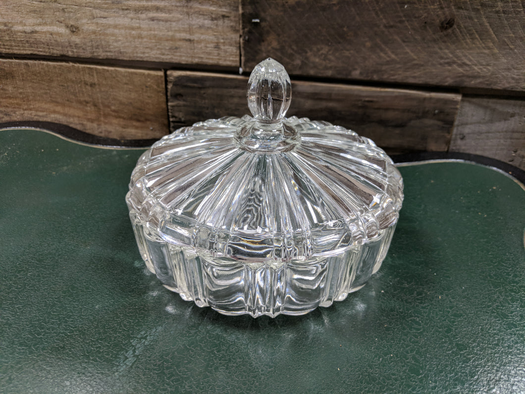 Covered Glass Bowl