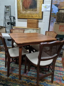 Card Table and Set of 4 Chairs