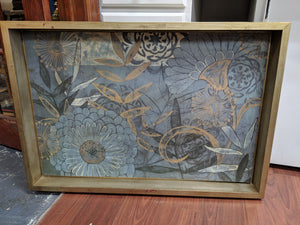Large Framed Floral Art