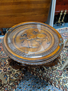 Round Lion Table