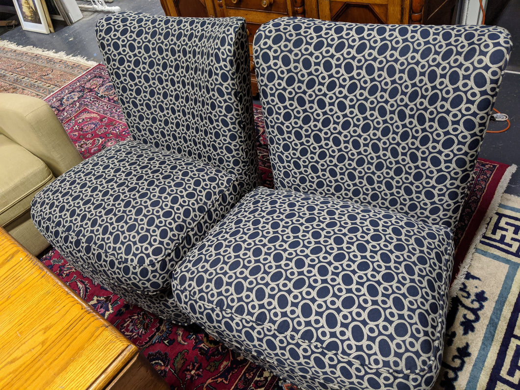 Pair of Blue Baker Chairs